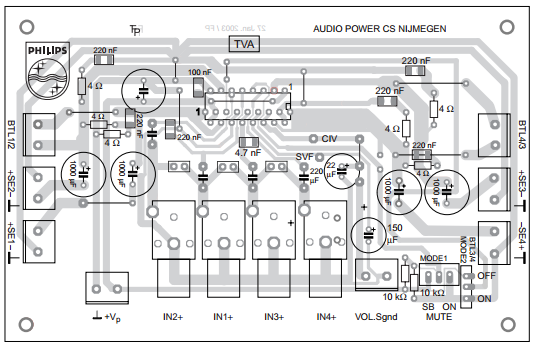Tda J Pcb Top in addition Low Impedance Microphone  lifier Schematic in addition Eight Sound Effects Generator Circuit Diagram furthermore Dodge Dakota Fuse Box Map in addition S  Ii W Power  lifier Circuit. on car audio amplifier circuit diagram