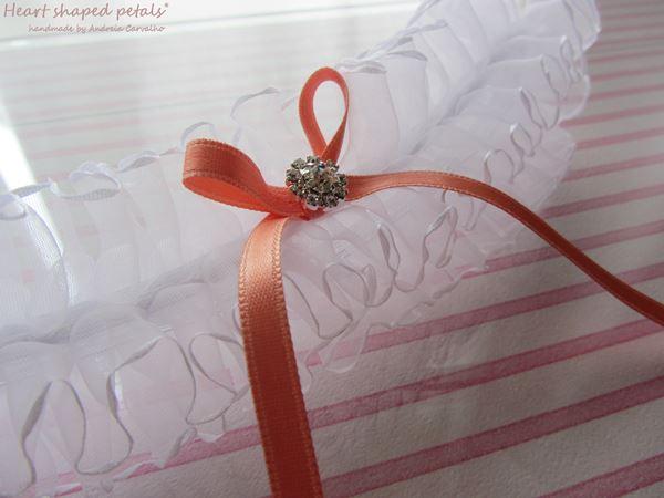 Ligas para noivas com brilhantes