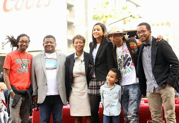 Pharrell and family