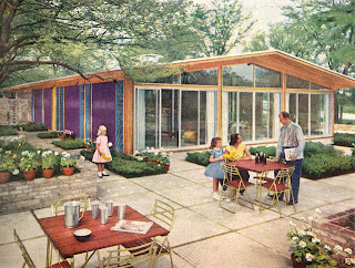 mid century patio design