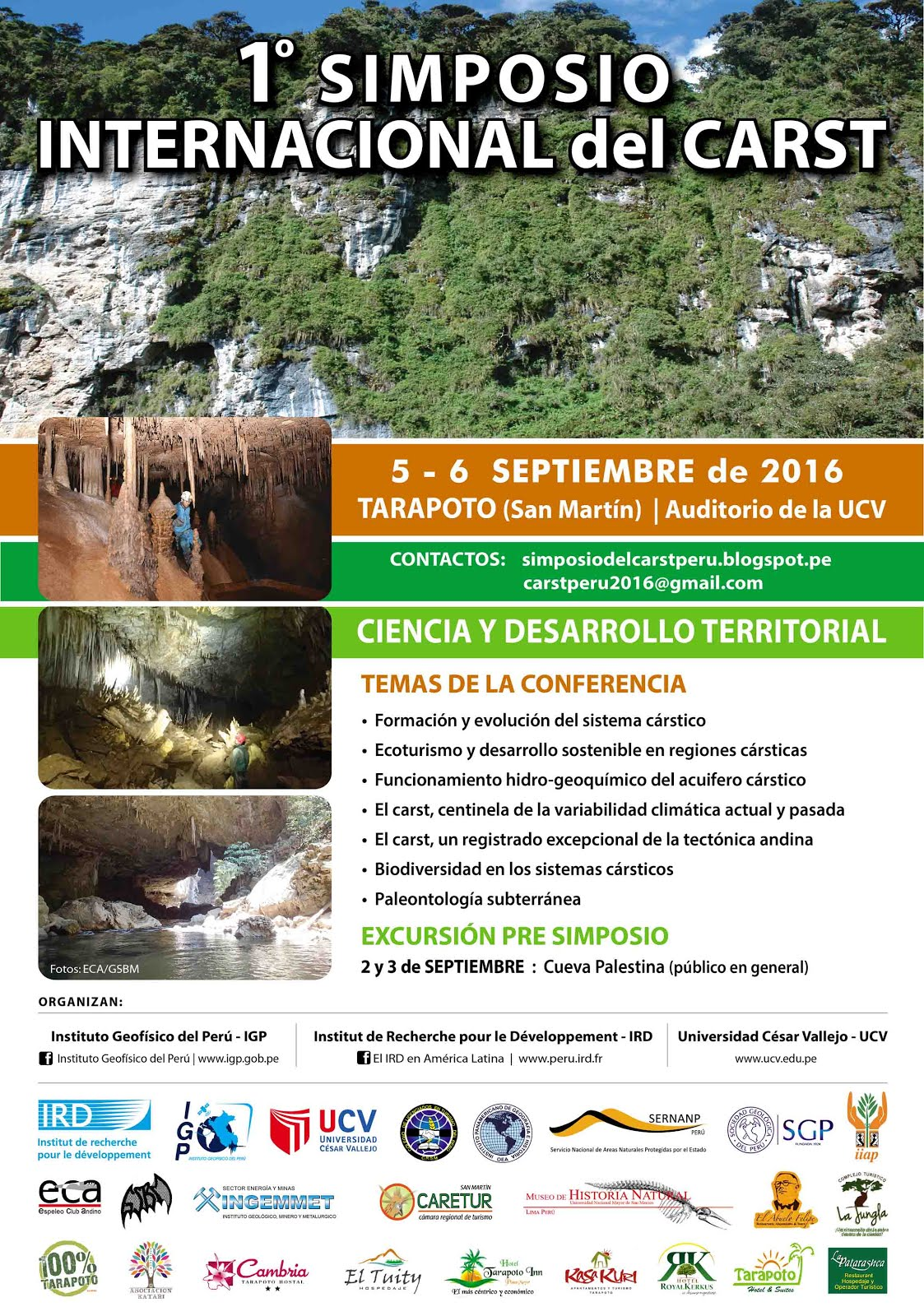 1° SIMPOSIO CARST-TARAPOTO PERU 2016