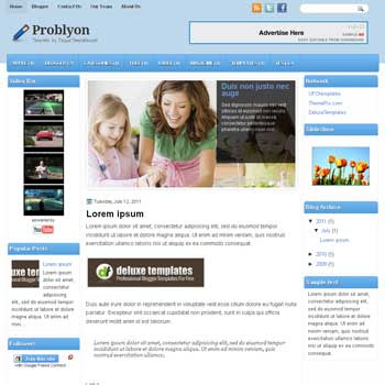Probylon blogger template. template blogspot magazine style
