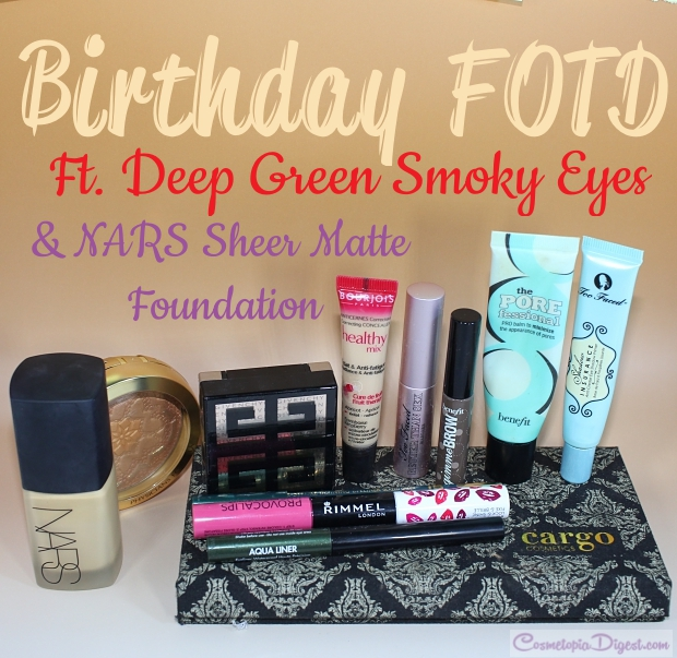 Birthday party FOTD with smoky eye makeup