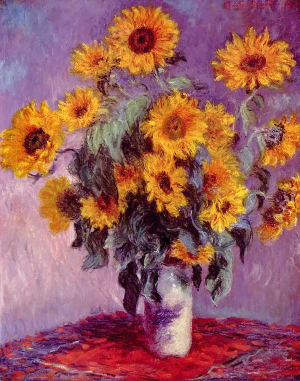 "Picture of ""Sunflowers"" by Claude Monet, 1881"