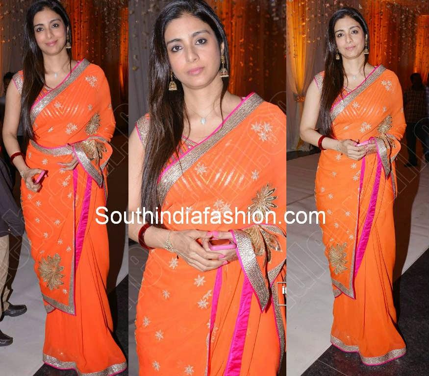 tabu in orange saree
