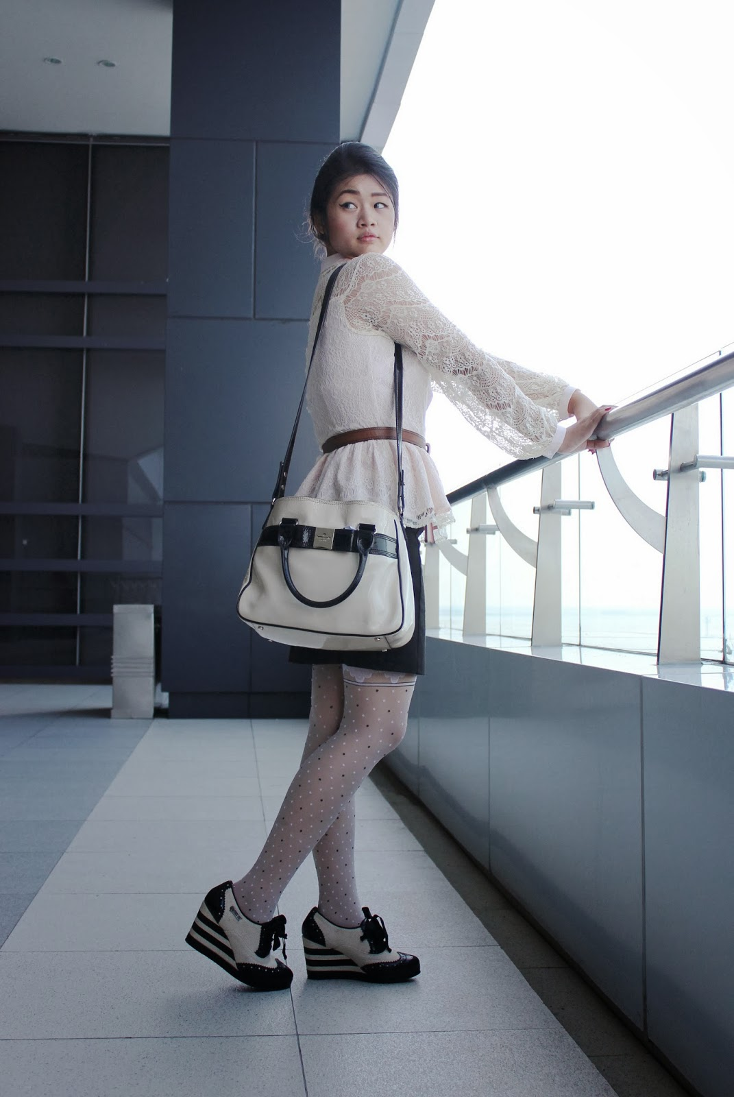katespade bag, blogger, fashion blogger, miss selfridge lace top, miss selfridge shirt