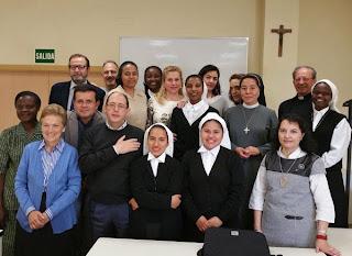 Alumnos en la clausura del Curso de Evangelización Misionera de la Cátedra de Misionologia