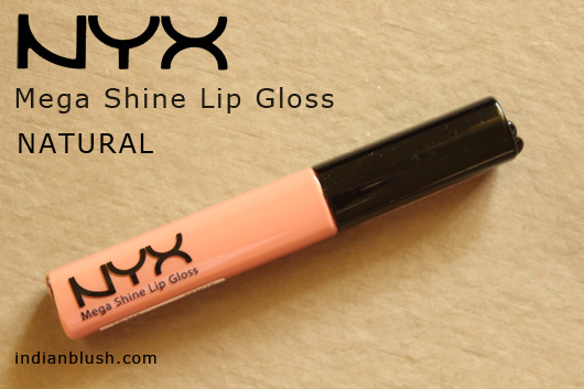 NYX Mega Shine Lip Gloss NATURAL Price in India