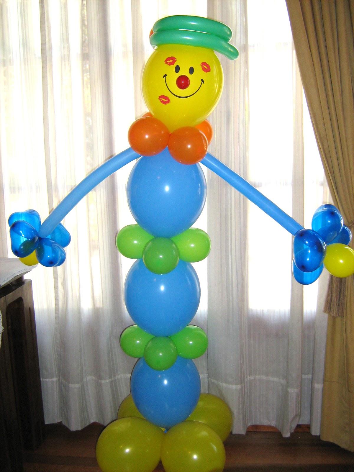 Ideas locuras y creaciones lindos arreglos con globos - Globos aerostaticos infantiles ...
