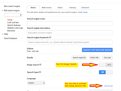 Image: How to setup Google Custom Search Engine step 4