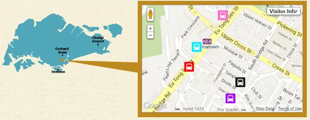 tempat wisata di singapore, singapura, etnis china, peta chinatown