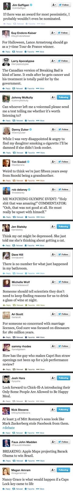 best tweets 2012