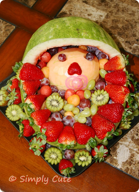 Simply Cute Fruit Tray For Baby Shower