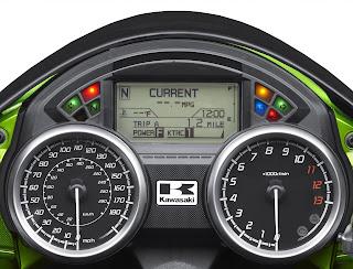Kawasaki Ninja ZX14R Digital Console and Speedometer