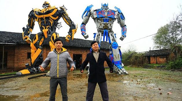 Robot Transformer Ciptaan Petani Tiongkok
