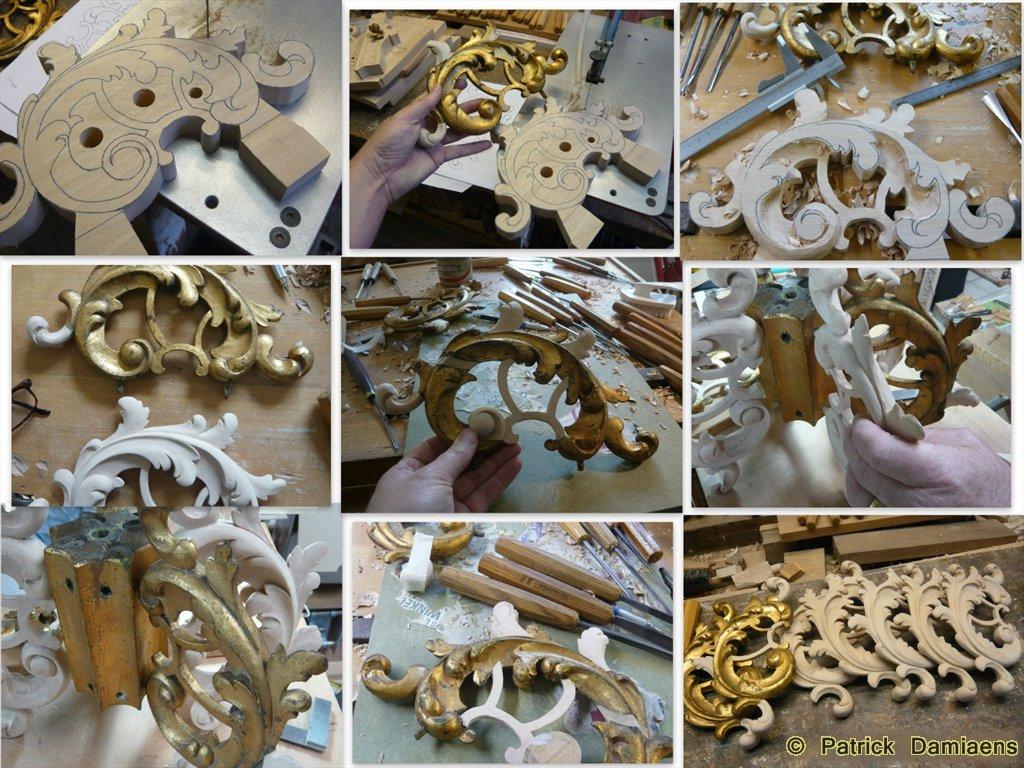 Ornamentsnijder - PATRICK DAMIAENS: RESTAURATIE van een houten ...