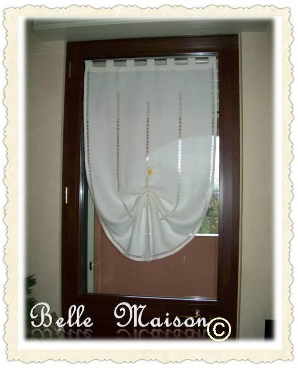 Soggiorno Con Finestra: Tenda per porta finestra da cucina con mantovana.