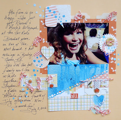 Scrapbook page design by Kimberly Archer
