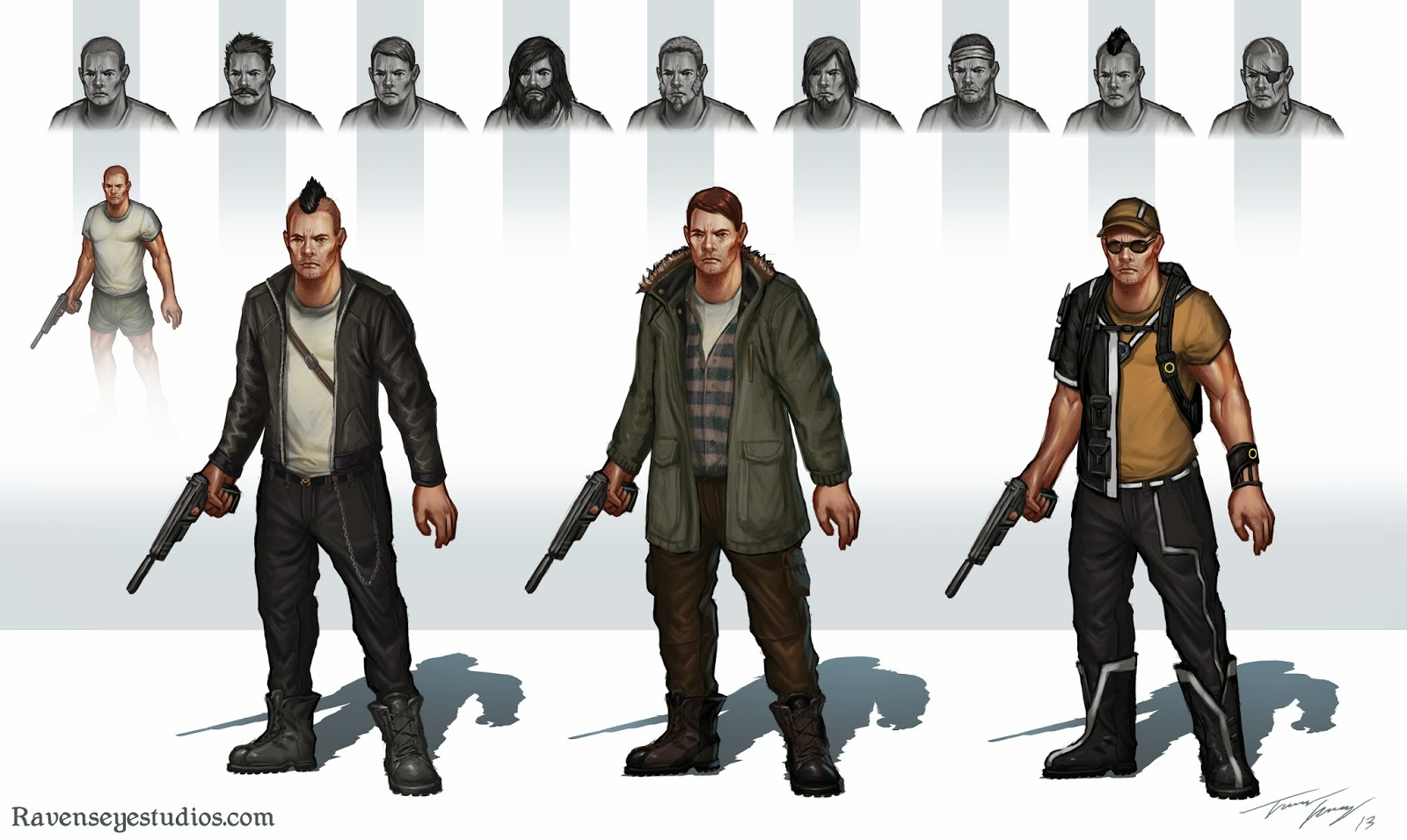 Character And Npc Design : Concept art and design of travis lacey ravenseye studios
