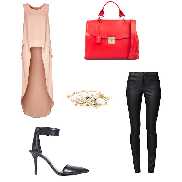 The 1984 satchel by Marc Jacobs, Liya leather pumps by Alexander Wang, Finders Keepers This love top, Filippa K leather tousers, Kat&Bee Graha Ring, outfit, look, leather pants look