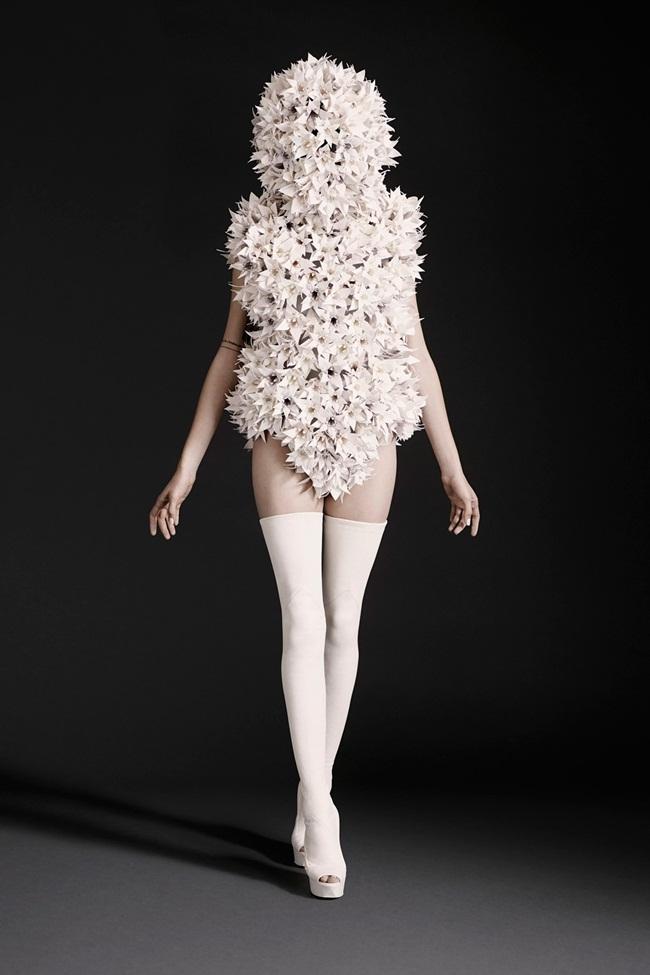 Gareth Pugh 2015 SS Origami Flowers Bodysuit