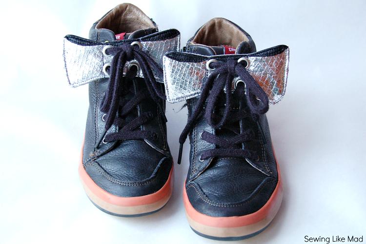 Tutorial : Aplique en forma de lazo para zapatillas de niña