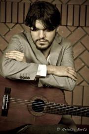 Com o guitarrista flamenco Davi Caldeira