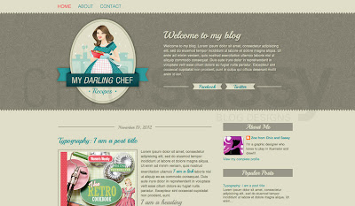 blogger premade template