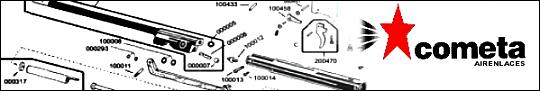 Planos de carabinas Cometa, Lista de partes de rifles Cometa