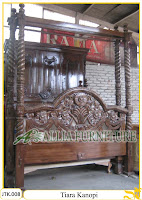 Tempat Tidur Kanopi Ukiran Tiara Jakarta