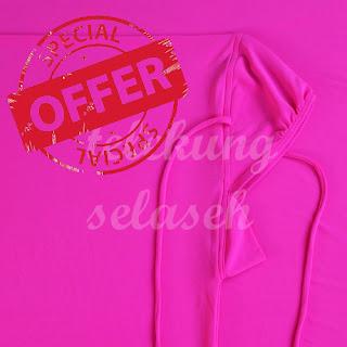 Telekung lycra pink