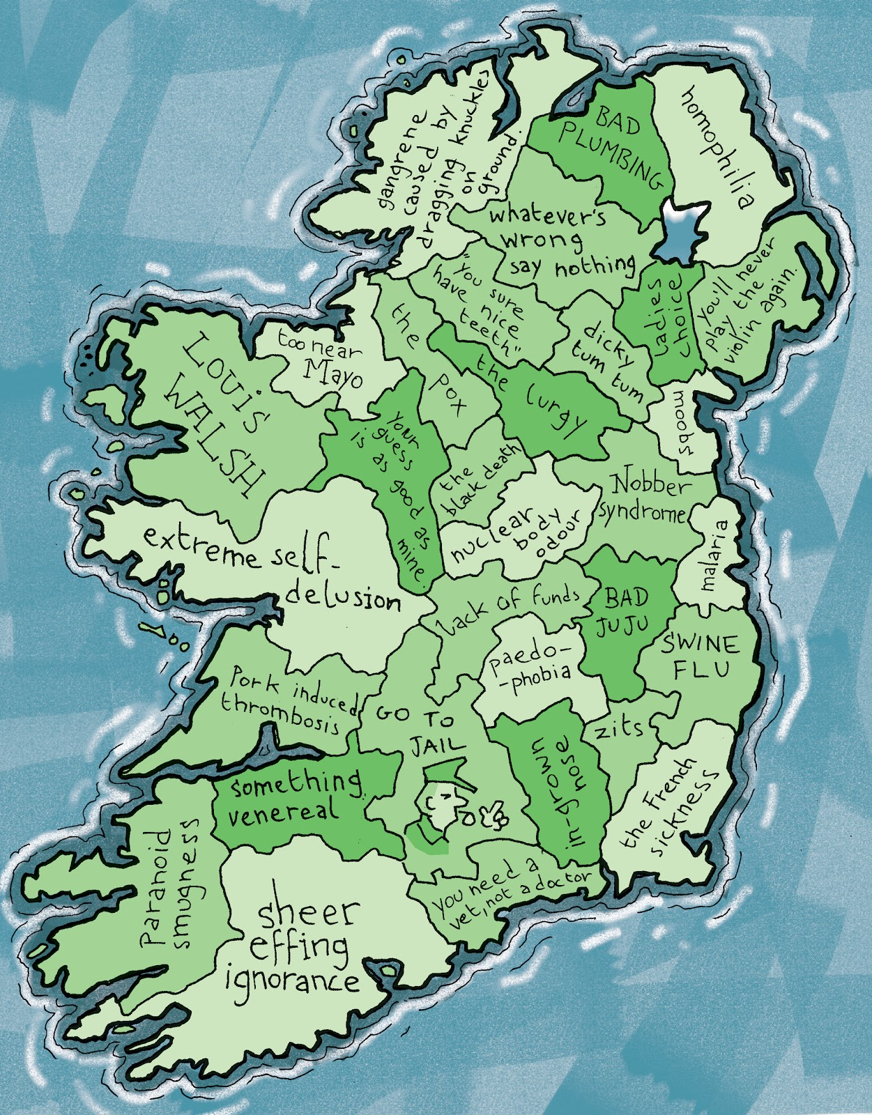 my cartoon version of reality diagnostic map of ireland