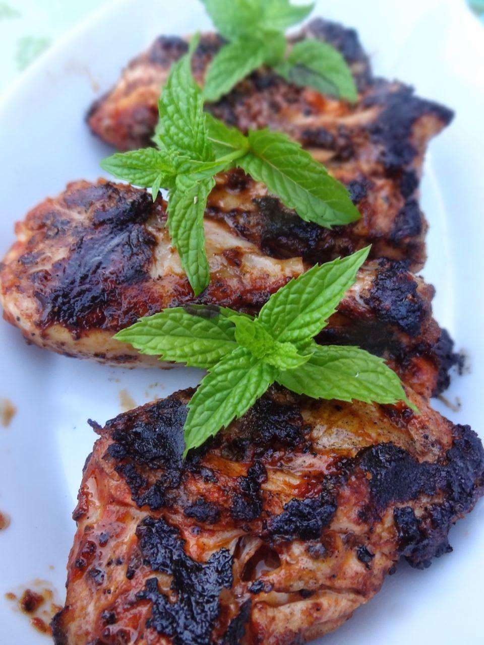Scrumpdillyicious: Piri-Piri Chicken with Pan-Fried Parmesan Polenta