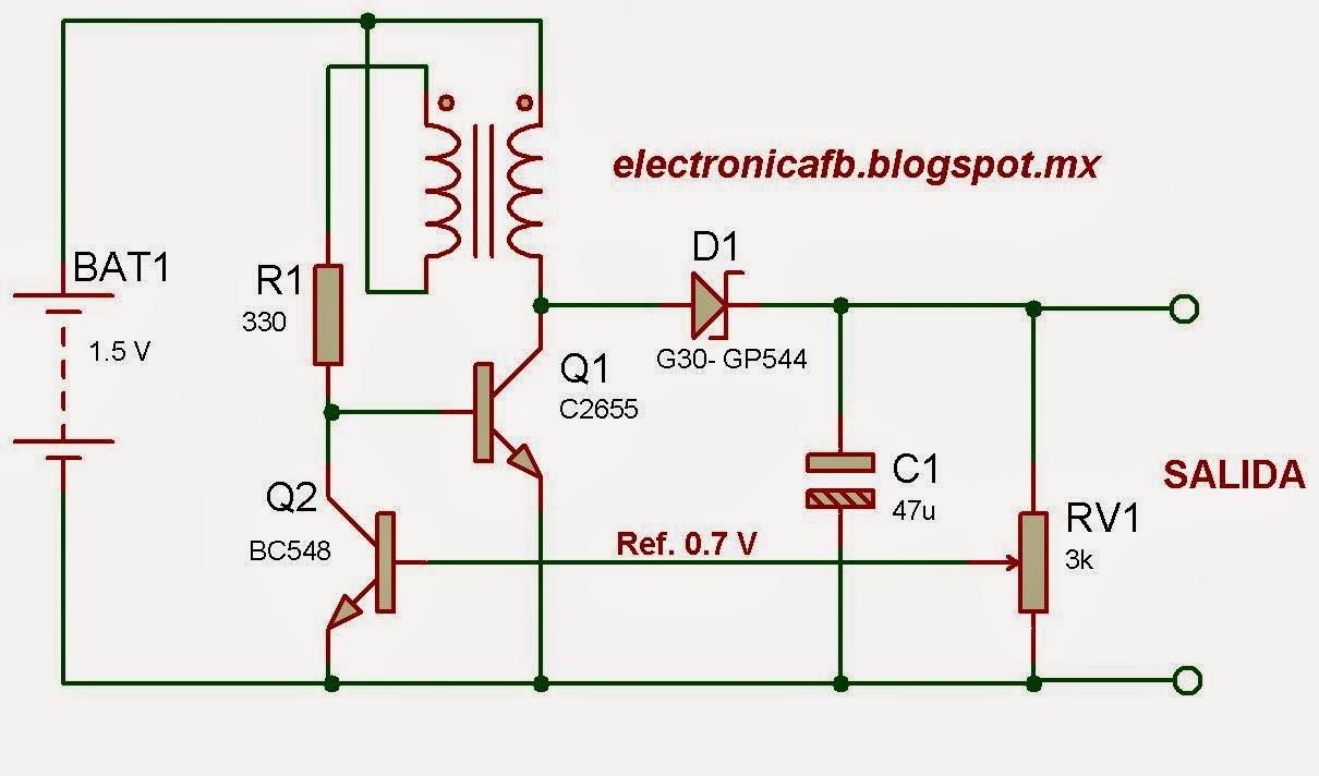 Circuito Cc : Proyectos de electrónica caseros sencillo conversor cc cc de