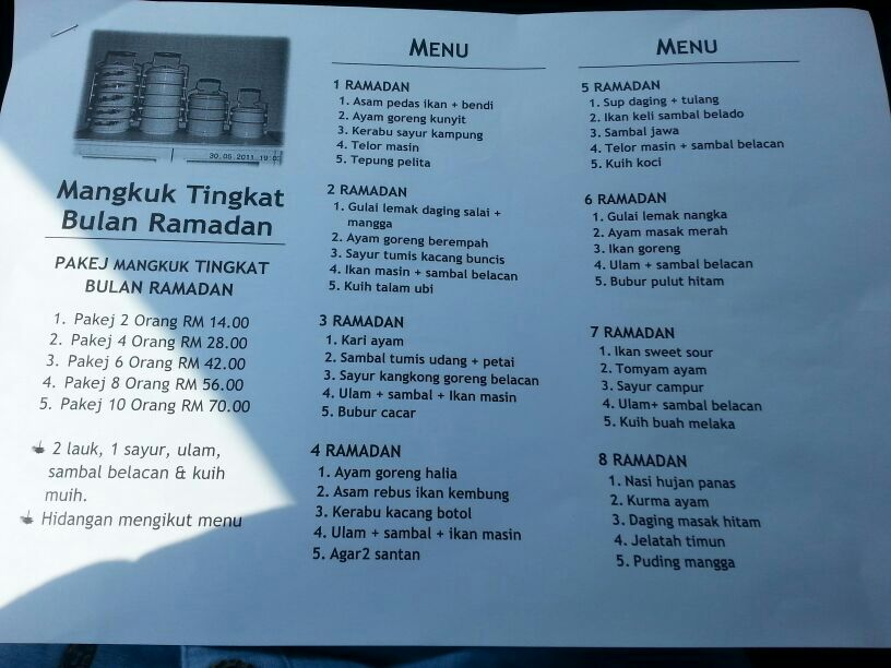 Mangkuk Tingkat Ramadhan Ingatkan Mangkuk Tingkat Yang