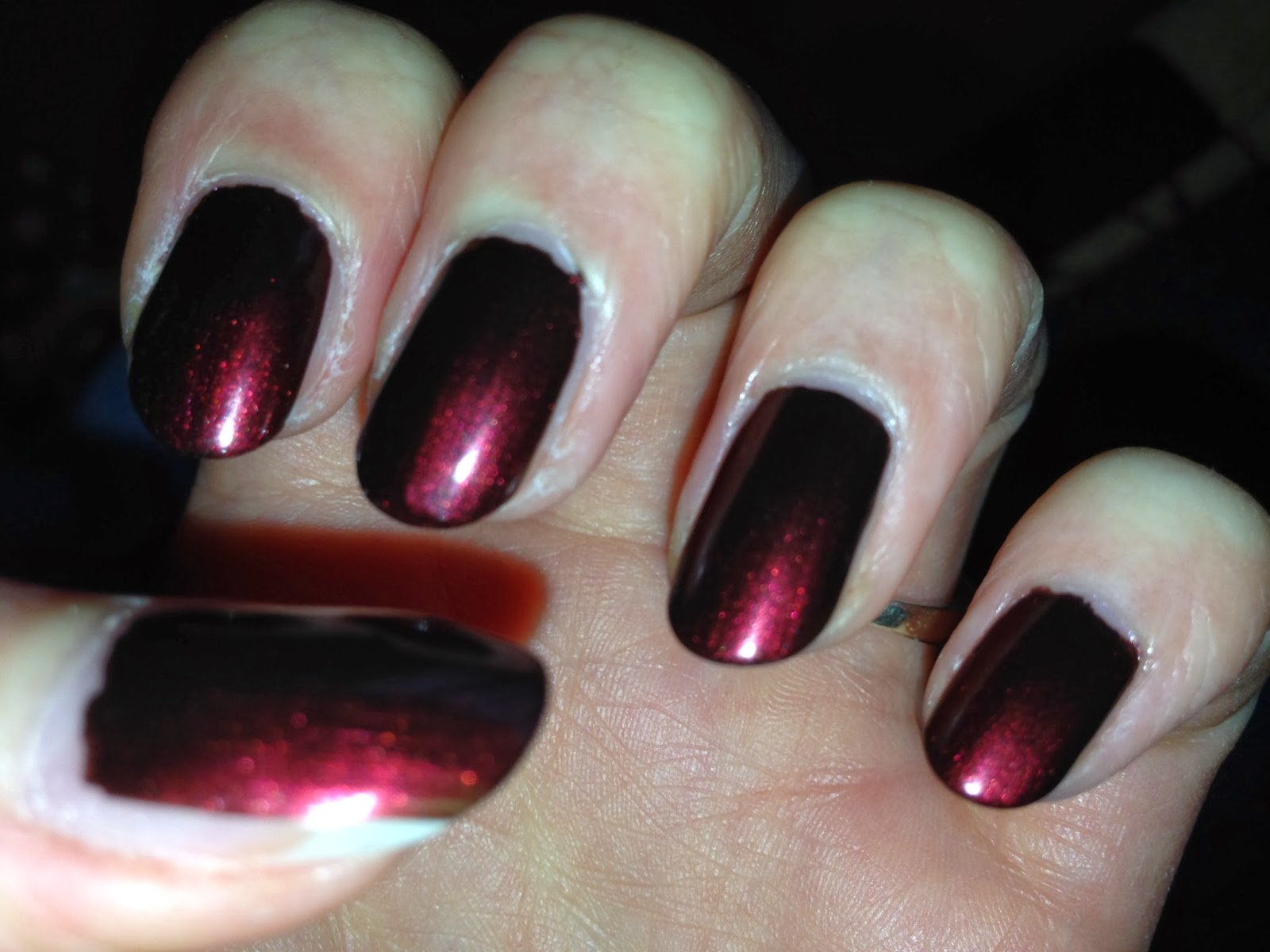 Yorkshire Rose Nail Art: Red And Black French Manicure