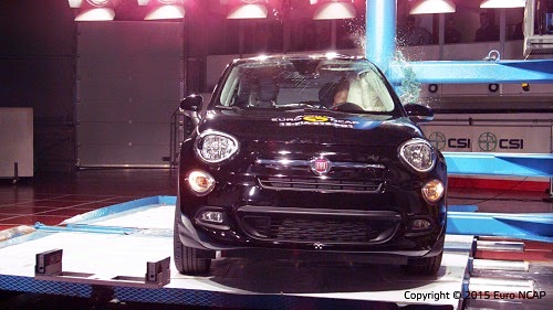 Fiat 500X Euro NCAP Side Pole Crash Test