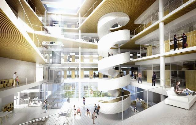 02-Dorte-Mandrup-Arkitekter-wins-School-of-Economics-Competition