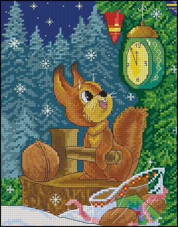 Схема вышивки советские открытки 50
