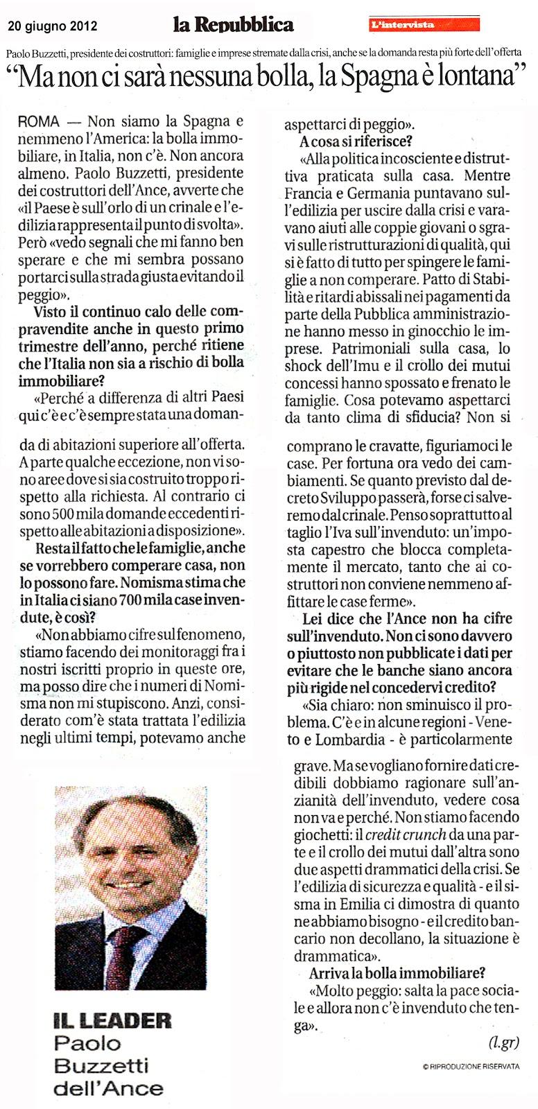 Tg roma talenti sono mesi che vi stiamo mettendo in guardia la bolla immobiliare sta - Prima casa non pignorabile dalle banche ...