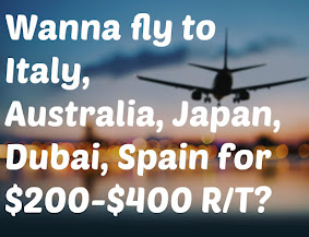 Get access to our glitch airfares!