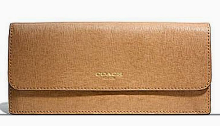 COACH Soft Wallet in Saffiano Leather 49350