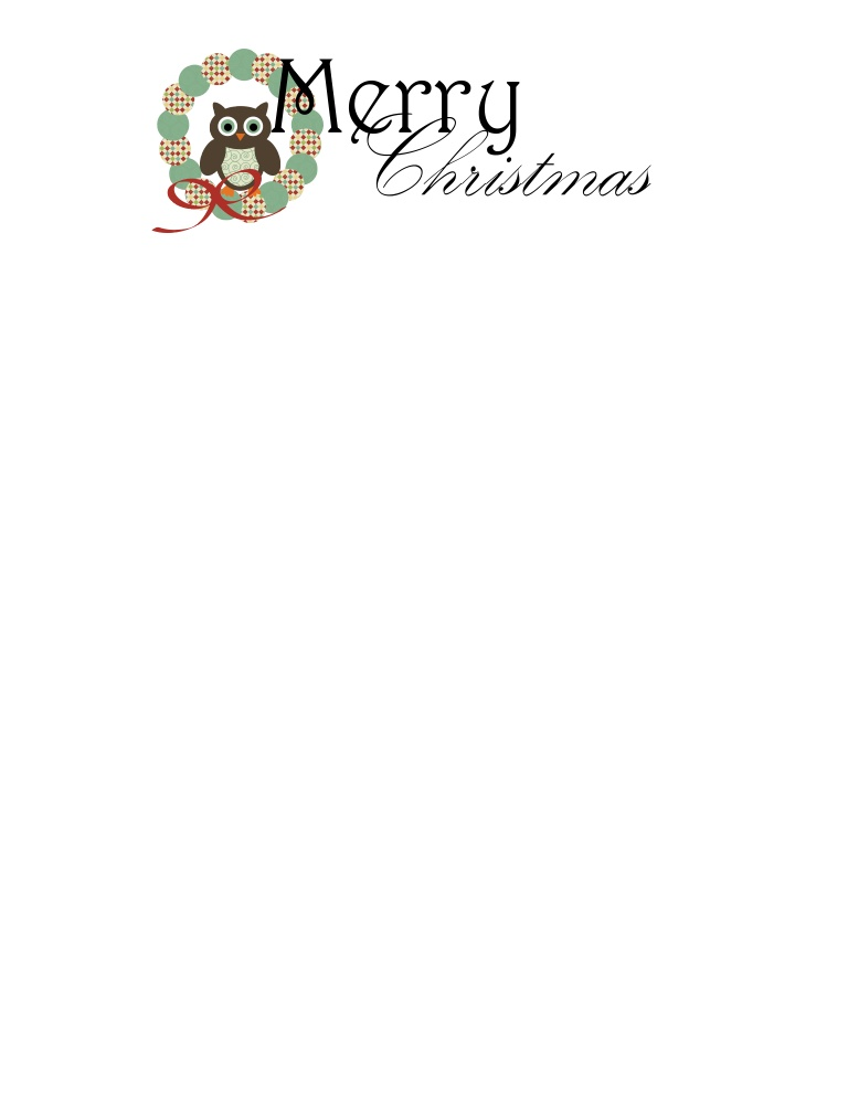 Printable christmas stationary search results calendar 2015 for Printable christmas stationary