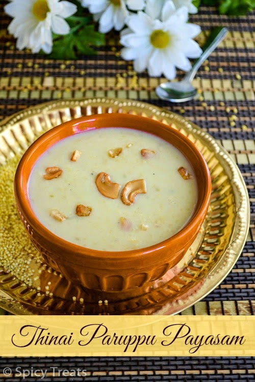 Thinai Paruppu Payasam