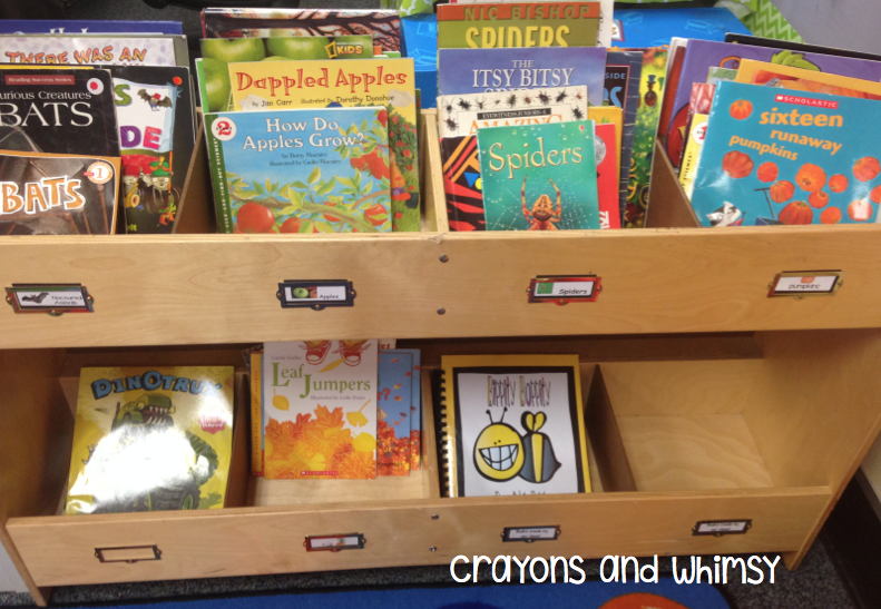 classroom library organization crayons and whimsy