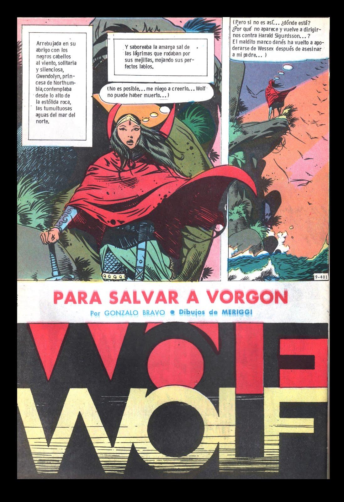 WOLF :GUIÓN ARMANDO FERNANDEZ / DIBUJOS MERIGGI
