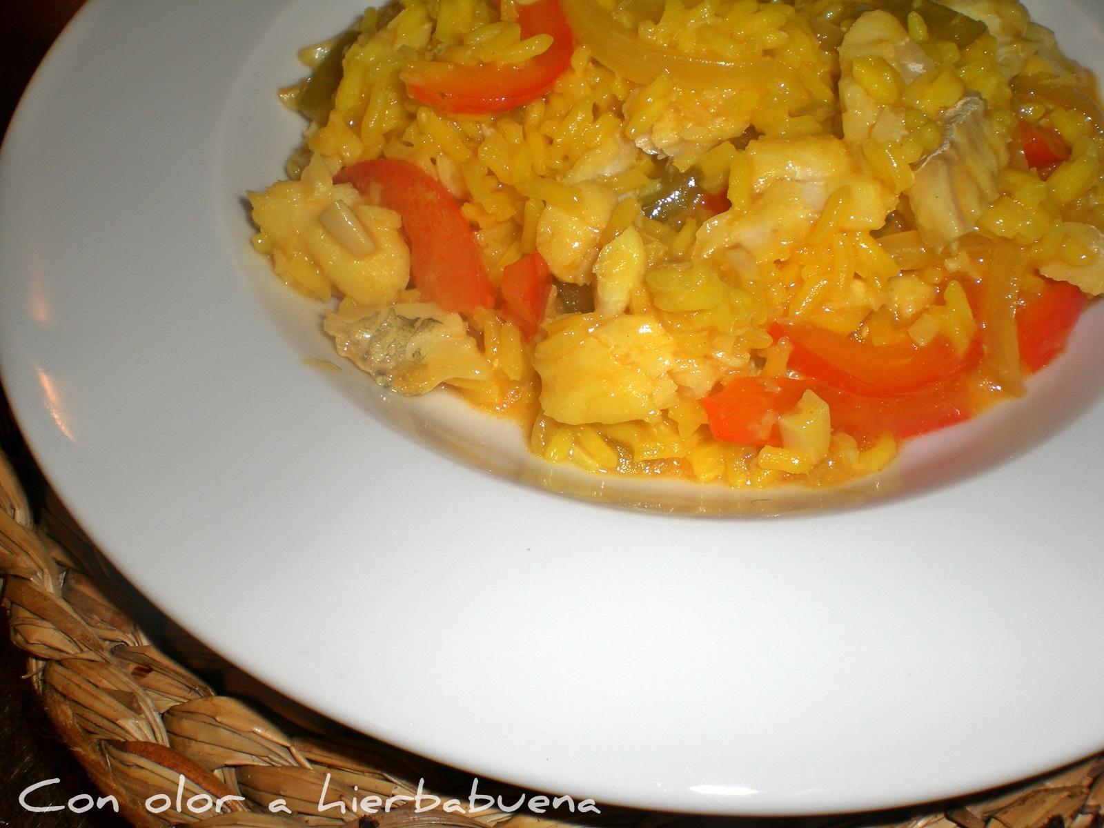 Con olor a hierbabuena arroz con bacalao - Arroz blanco con bacalao ...