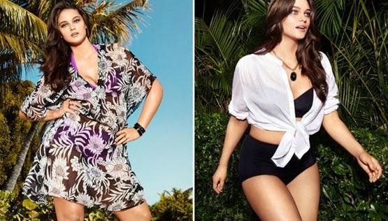 H&M tallas grandes moda playa verano 2014