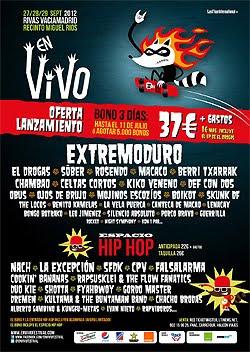 En Vivo 2012 en Rivas Vaciamadrid en septiembre y primeros grupos