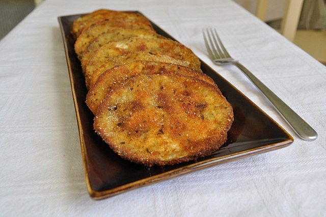 how to cook breaded eggplant